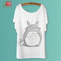 2015 Summer Women T Shirt Animal Print Totoro Deer Lip Lion Tiger Femme Loose Tops Ladies