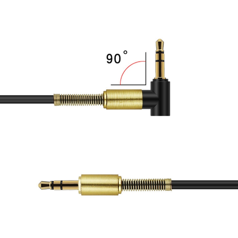 Image 3 - 3.5mm Gold Plated Male To Male 90 Degree Angle Audio Aux Cable For Car Stereo PC-in Speaker Line from Automobiles & Motorcycles