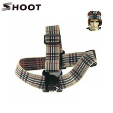 SHOOT BB Type Burberry Stripe Soft Head Strap For Gopro 2 3 4 4 Session SJ4000