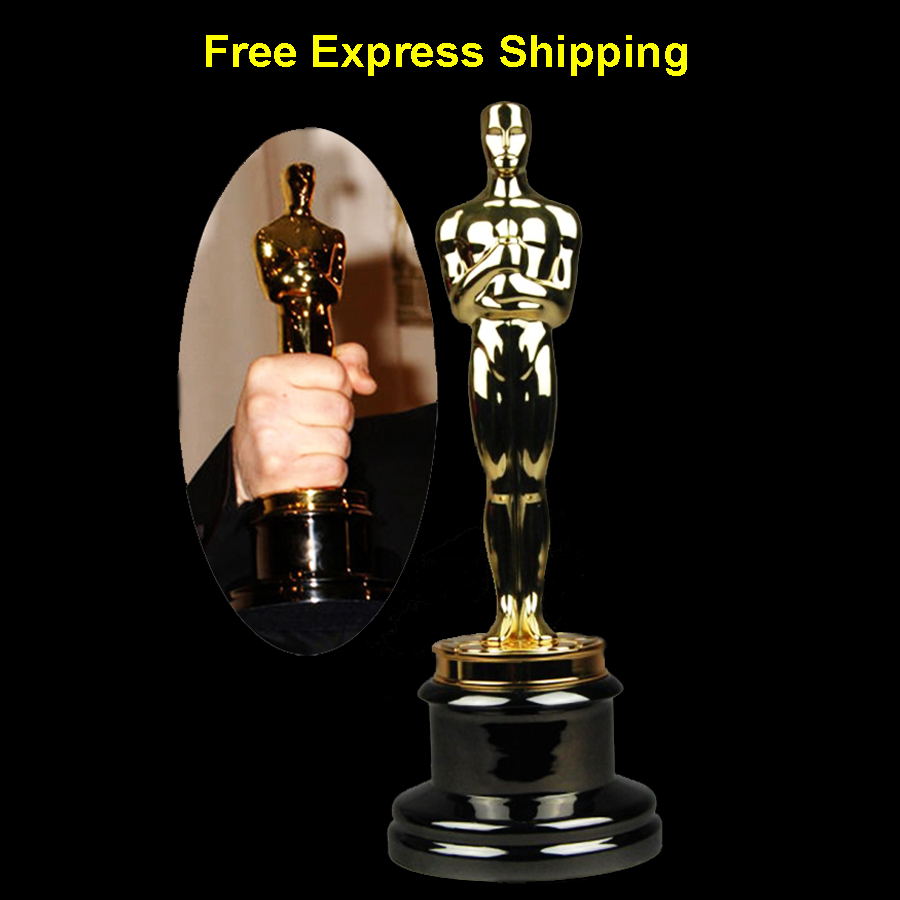Free Express With Academy Oscar Awards Trophy Statue Metal Gold Oscar Trophy Awards Statuette 1:1 replica movie award trophies