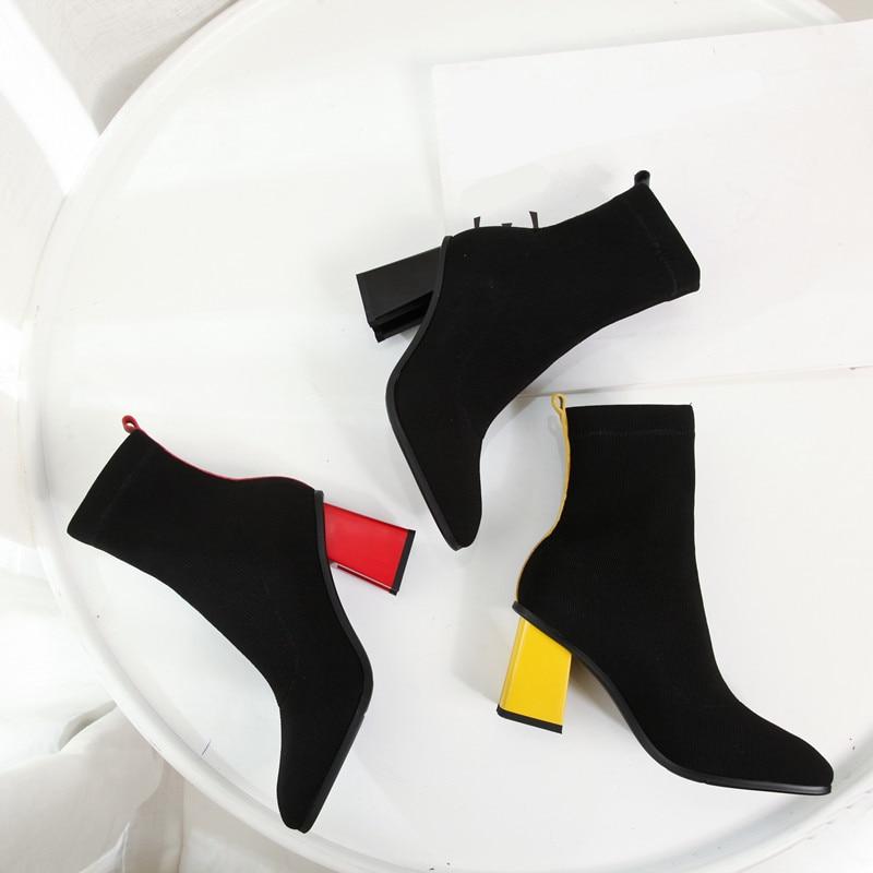 MORAZORA Winter Women Boots High-Heels Autumn Plus-Size Ladies New-Fashion Thick Ankle