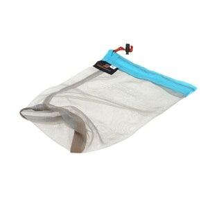 Image 5 - Сверхлегкий сетчатый мешок для хранения вещей на шнурке, чехол для наушников, кейс для тавиллинга, кемпинга, спорта, Большой/средний/маленький размер