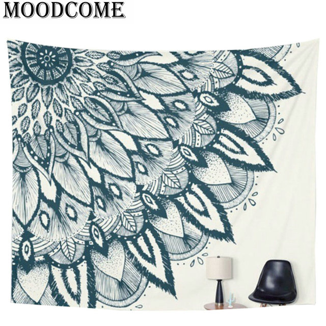 Mandala Tapestry Indian Bohemian Wall Art Tapestry Wall Hanging Sandy Beach  Picnic Throw Rug Blanket
