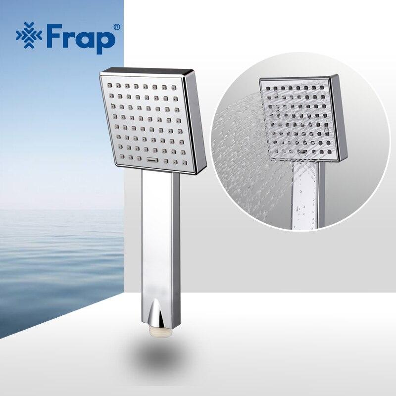 FRAP ahorro de agua cuadrado cabeza de ducha de plástico ABS mano Bañeras ducha Bañeras Sala Accesorios f002