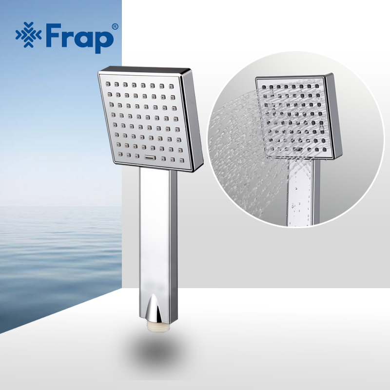 Frap Water saving Square shower head ABS plastic hand hold bath shower Bathroom Accessories F002 1 8x1 8m peva bathroom shower curtains moldproof waterproof 3d thickened household bathroom shower curtain plastic bath screen
