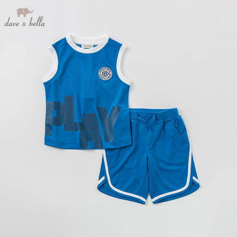 DBK9739 dave bella summer kids boys fashion clothing sets boys casual  sleeveless suits children printedDBK9739 dave bella summer kids boys fashion clothing sets boys casual  sleeveless suits children printed
