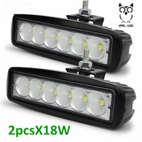 18W Cool White 6 LED Motorcycle Headlamp Auxiliary Lamp Fog Lamps Spot Light Headlight