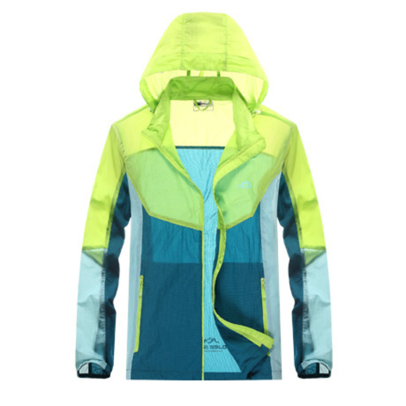 Men Women Camping Clothing Quick Dry Hiking Jacket Waterproof Sun & Uv Protection Coat Outdoor Sport Skin Jackets