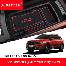 QCBXYYXH Car Styling Center Console Armrest Storage Box Covers Interior Decoration Accessory For Citroen C5 AIRCROSS 2017-2018