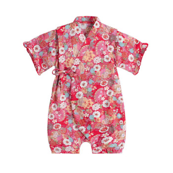 Kimono baby clothes japanese style kids clothes girls romper retro bathrobe uniform clothes infants pajamas floral Costume 5