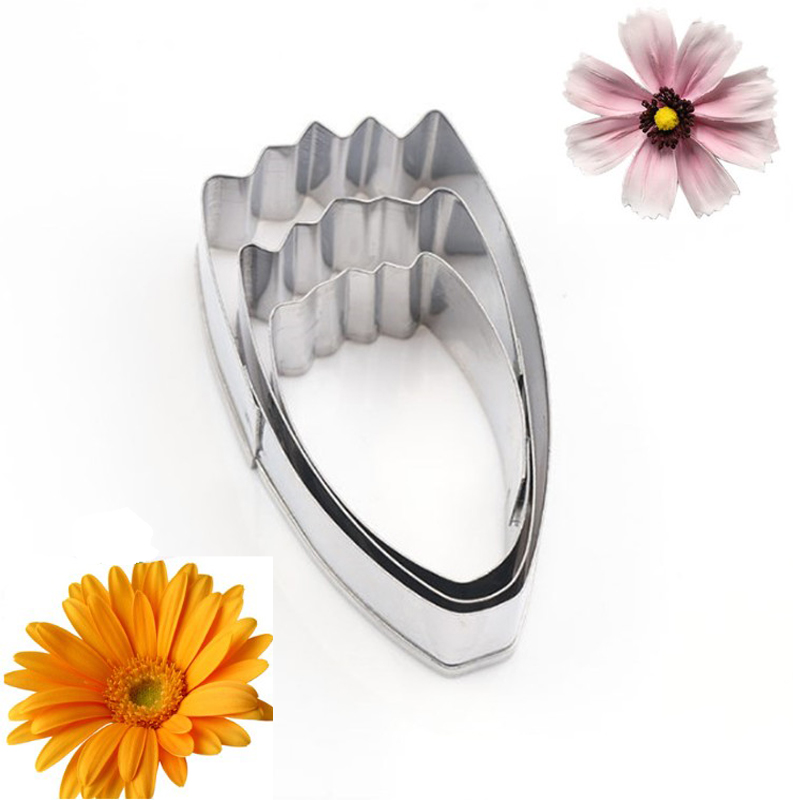 TTLIFE 3Pcs Calliopsis Petal Cookie Cutter Sunflower Biscuit Mold Flower Stainless Steel Baking Moulds Cake DIY Decorating Tools