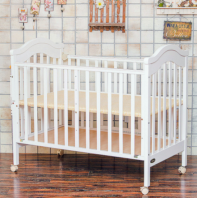 Baby Cribs Bedding Solid Wood Crib High Quality Multi Functional Baby Bed  Cot Extendable With Cradle