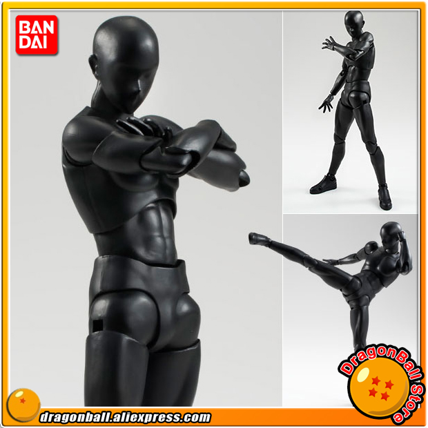 Original BANDAI Tamashii Nations S.H.Figuarts / SHF Action Figure - Body-kun (Solid black Color Ver.) tt tf ths 02b hybrid style black ver convoy asia exclusive