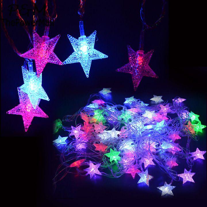 New-Hot-5M-28-LED-Pentagram-String-Fairy