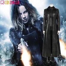 Косплей ONSEN Underworld кровавые войны вампир воин селен Косплей костюмы Делюкс Черный наряд для Хэллоуина