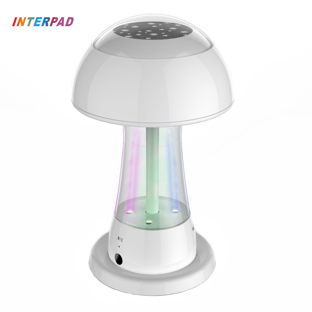 2017 World Premiere Interpad DIY Bluetooth Speaker Water Dance Music Fountain Speakers Wireless Portable Sound Best Gifts small music tesla coils plasma speakers wireless lighting ion windmills electronic toys gifts