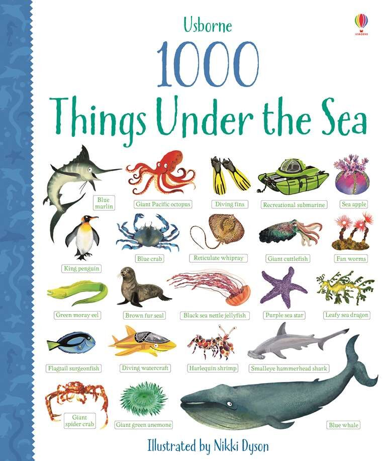 Usborne 1000 things under the sea English words learning