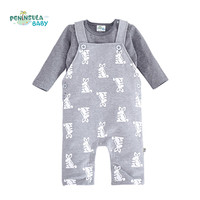 2Pcs/lot Baby Clothing Sets Overalls Romper+Long Sleeve T shirts Newborn Boys Girls Clothes Rabbit Infant Jumpsuits