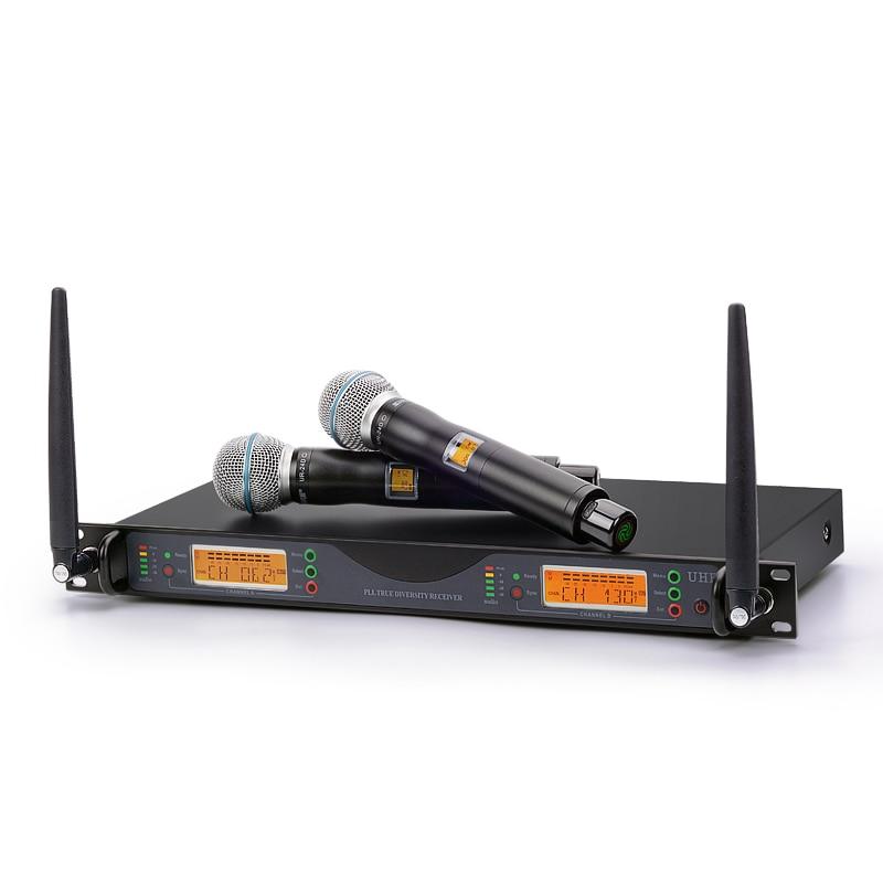 все цены на 3 Years warranty Professional Dual Wireless Cordless vocal artist UHF Microphone System UR24D 300 Channel Frequency Adjustable онлайн