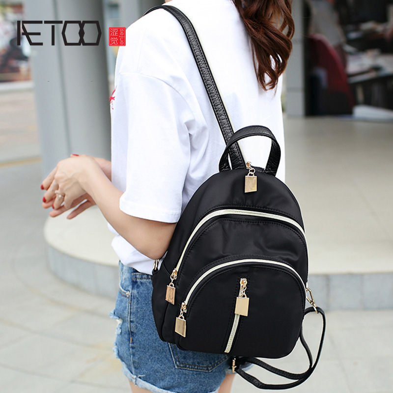 AETOO Shoulder bag female 2017 new Korean version of the wave of personalized wild fashion nylon Oxford cloth leisure mini small oxford bag korean version of the female students shoulder bag large capacity backpack canvas backpacks