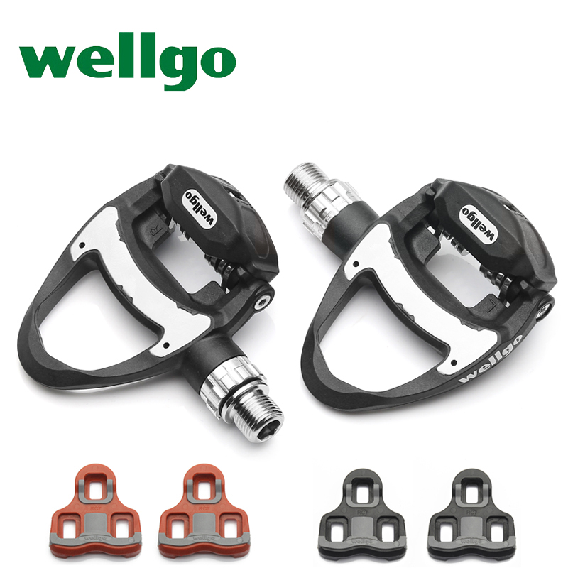 New wellgo carbon road pedals ultralight road bike pedals clip bicycle pedales tread R312 249g cycling