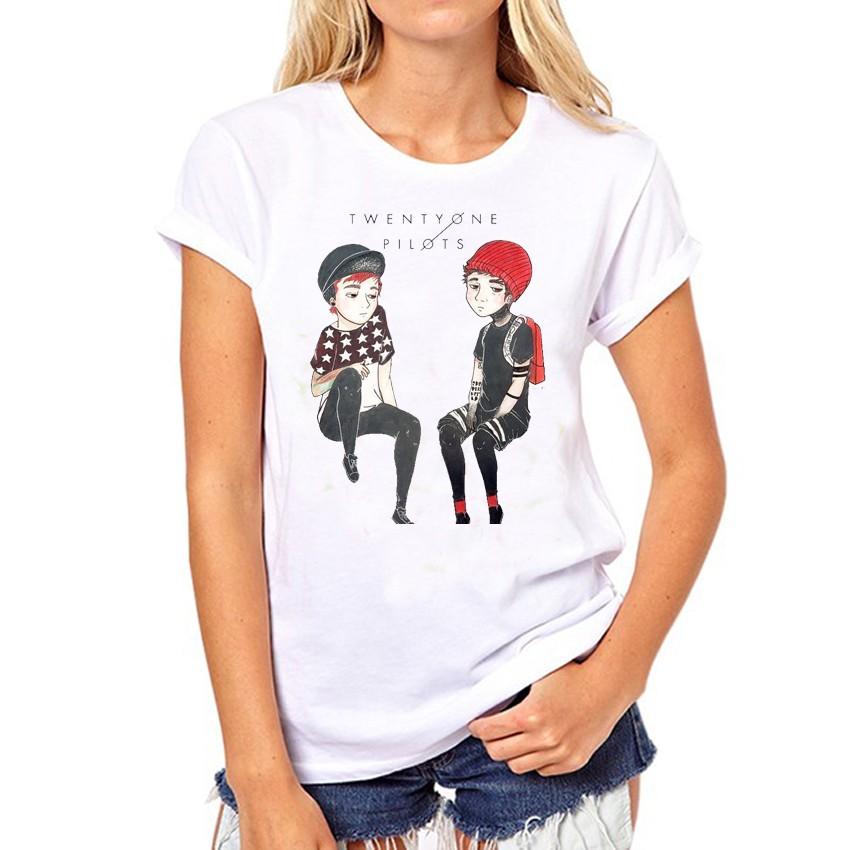 HTB1KxkROFXXXXXpXXXXq6xXFXXXZ - Twenty One Pilots T Shirt Summer Short Sleeve