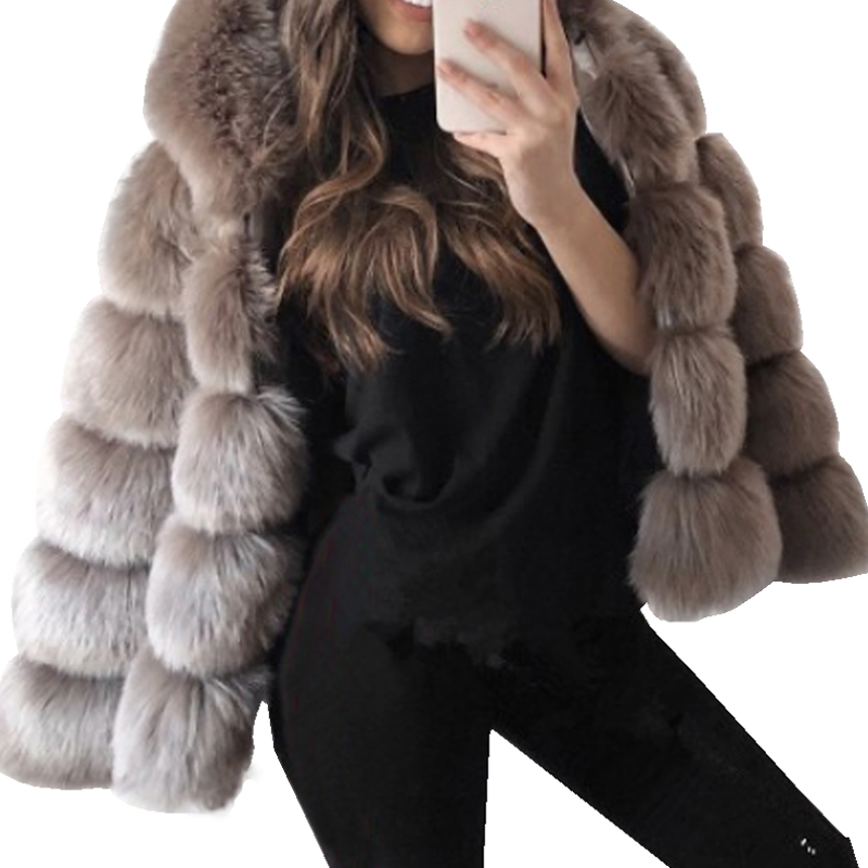 2018 Fur Coat Female Classic Warm Rabbit Fur Outerw