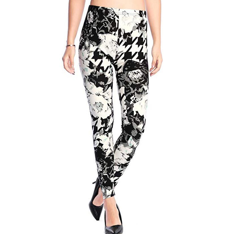 CUHAKCI Sexy Workout Legging High Waist Fitness Leggins Floral Camouflage Printed Leggings For Women Trousers Push Up Legging
