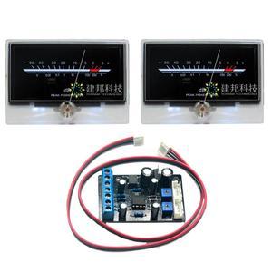 Um Par P-134 Pós-amplificador VU Medidor de Nível de Áudio Volume de Medidor de Nível de DB Back Light w/1 pcs TA7318P VU Meter Motorista Board