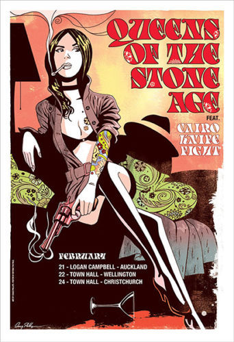 Queens Of The Stone Age – Rock Band Music  Silk Poster Art Bedroom Decoration 0691