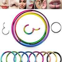 1 PC F136 Titan Klapp Segment Hoop Nase Ring 16G Nippel Clicker Ohr Knorpel Tragus Helix Lip Piercing Unisex körper Schmuck