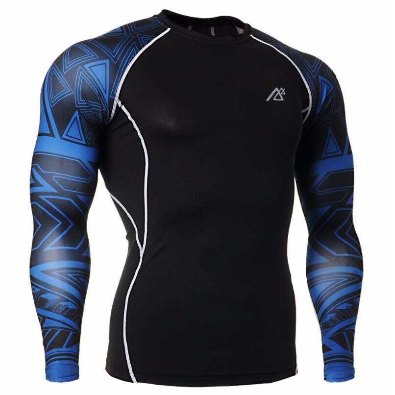 MMA Men's Compression Run jogging Suits Clothes Sports Set shirt And Pants Gym Fitness workout Tights clothing high quality - 2