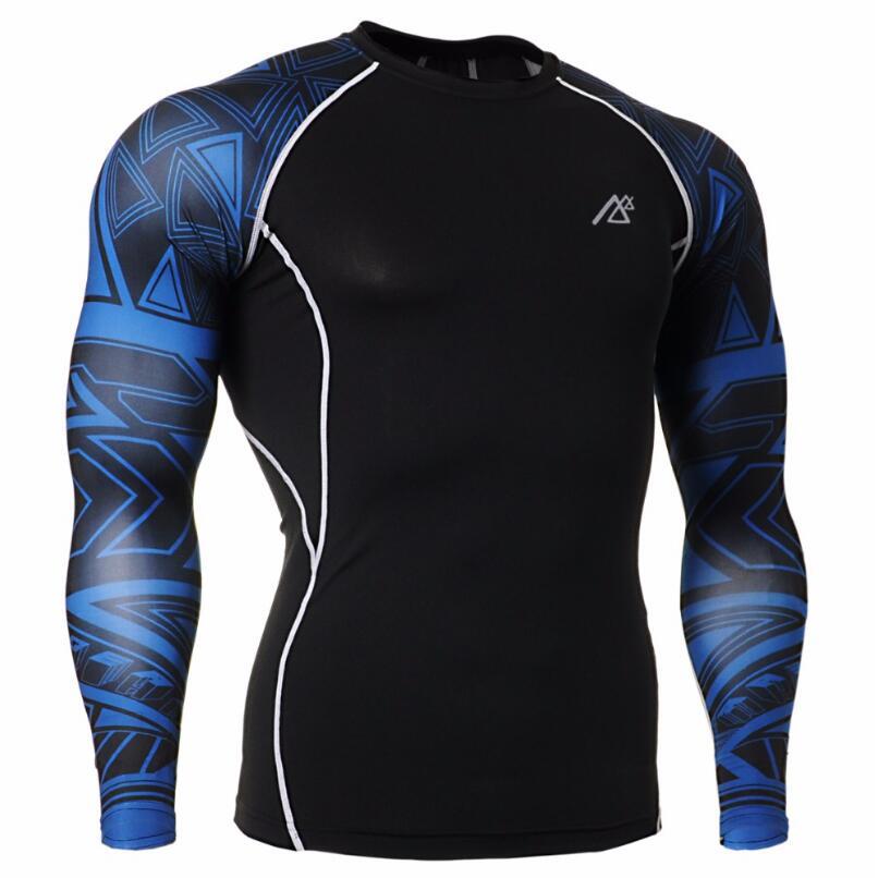 MMA Uomini di Compressione Correre Tute da jogging Abbigliamento Sportivo Set giacca E Pantaloni Palestra Fitness Collant allenamento abbigliamento di alta qualità - 2