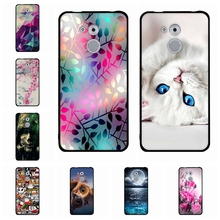 ФОТО for huawei enjoy 6s / nova smart cover flower painting soft silicon back cover shell case for huawei honor 6c phone bag cases