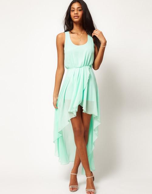 ce11e8198dd23 New Summer Ladies Long Chiffon Sexy Dress Fashion Maxi Mint Green Women Summer  Dress 2015 Casual Brand Dresses Vestidos