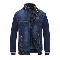 2017 New Fashion Denim Jacket Men Sweatwear Stand Collar Zipper Spring Autumn Casual Men Jacket Coat