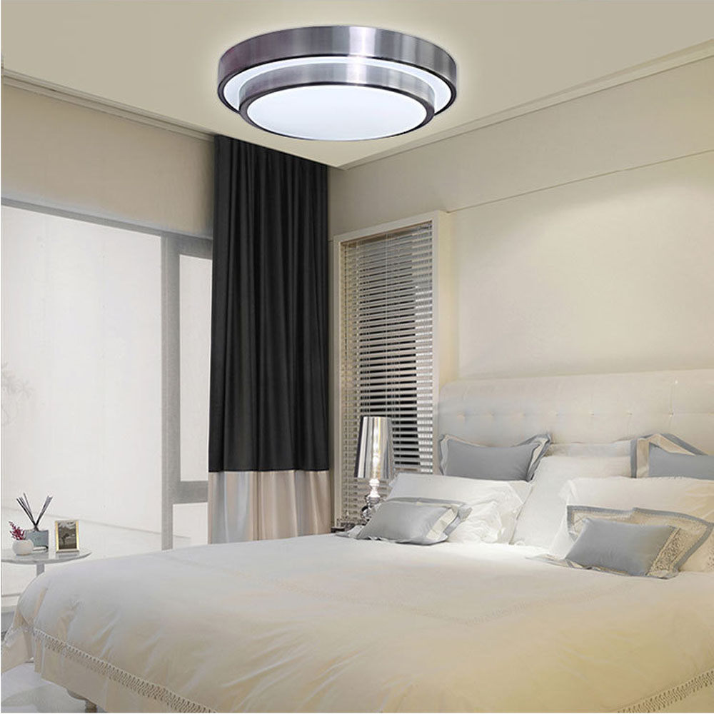 ФОТО Round Double Led Ceiling Lamp Modern Simple Energy Saving LED Bedroom Lamp Kitchen Room Study Ceiling Lamp