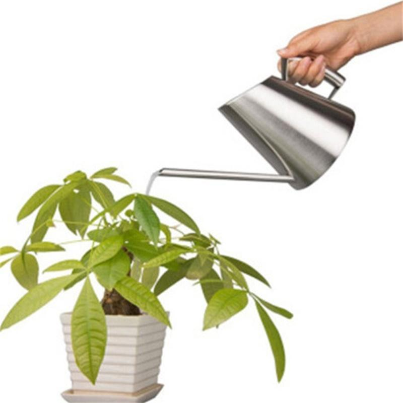 Adeeing 304 Stainless Steel Long Mouth Watering Pot Fashion Household Balcony Spray Can Garden Tools Adult Children ...