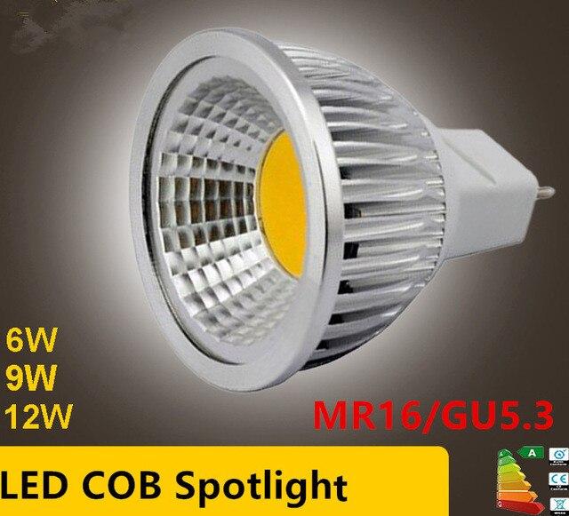 New High Power Lampada Led MR16 GU5.3 COB 6w 9w 12w Dimmable Led Cob Spotlight Warm Cool White MR16 12V Bulb Lamp GU 5.3 220VNew High Power Lampada Led MR16 GU5.3 COB 6w 9w 12w Dimmable Led Cob Spotlight Warm Cool White MR16 12V Bulb Lamp GU 5.3 220V