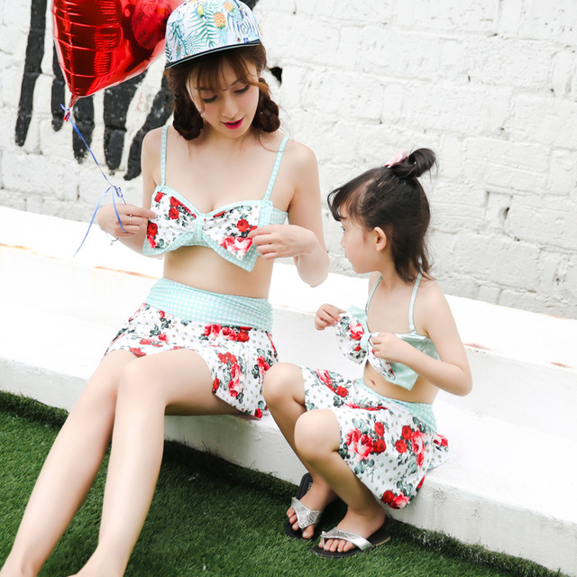 Family Match Swimsuit Mother And Daughter Swimsuit Swimwear Sets Mom