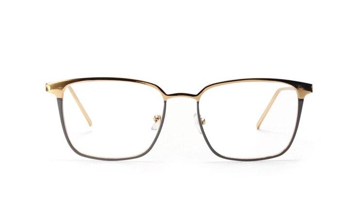 Ralferty 2017 cuadrado gafas marco mujer hombres Gafas de Metal ...