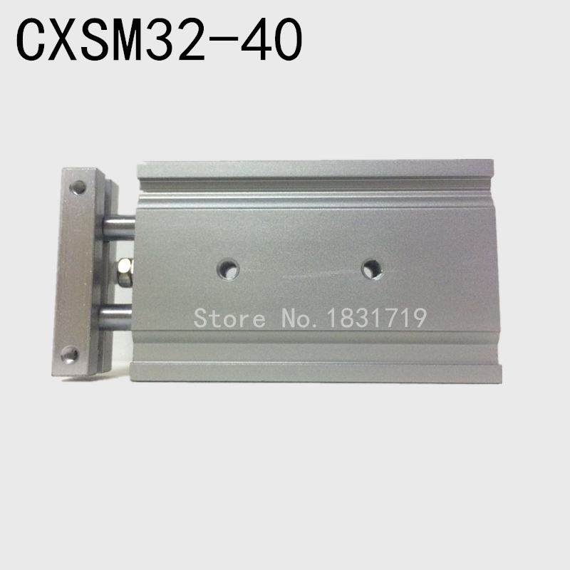 SMC type CXSM32-40 CXSM32*40 double cylinder / double shaft cylinder / double rod cylinder 32mm bore 40mm stroke smc type cxsm32 40 cxsm32 40 double cylinder double shaft cylinder double rod cylinder cxsm 32 40
