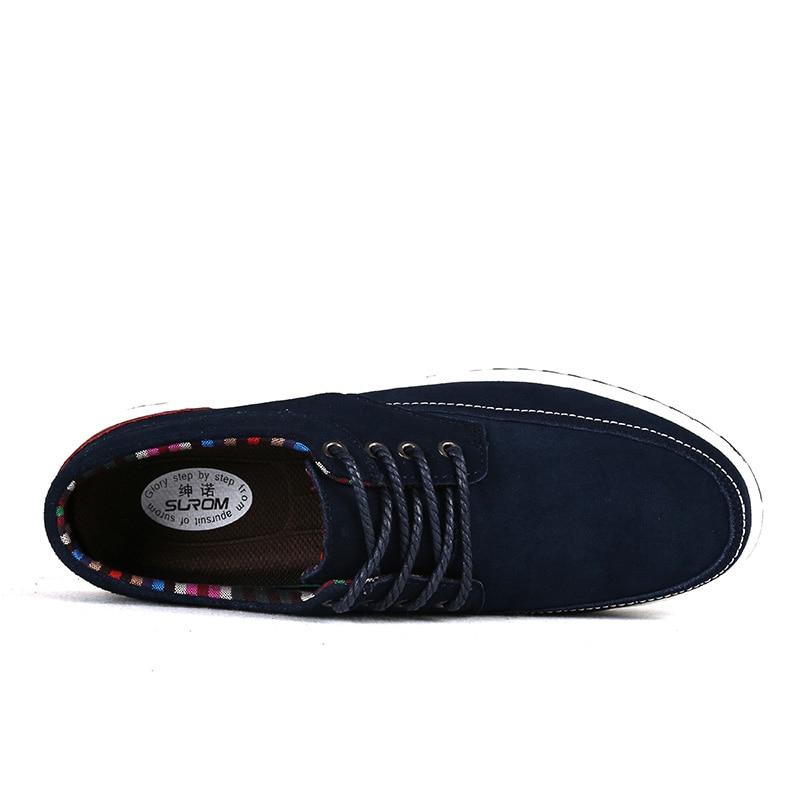 SUROM 남성용 가죽 캐주얼 슈즈 브랜드 가을 겨울 - 남성용 신발 - 사진 3