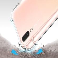 Yuetuo Прозрачный ударопрочный телефон назад ETUI, Coque, крышка, чехол для Huawei p20 Lite Pro P 20 p20lite кремния силиконовые аксессуары