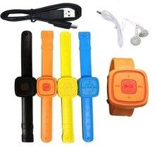 Новые часы с наушниками MP3-плеер портативный музыкальный плеер с микро TF картой мини наручные MP3-плеер водонепроницаемые часы