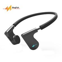 Auriculares de Conducción ósea del oído Abierto de Wireless Bluetooth Headset Sweatproof Deporte Auriculares Estéreo Con Micrófono Para Correr Gimnasio Negro