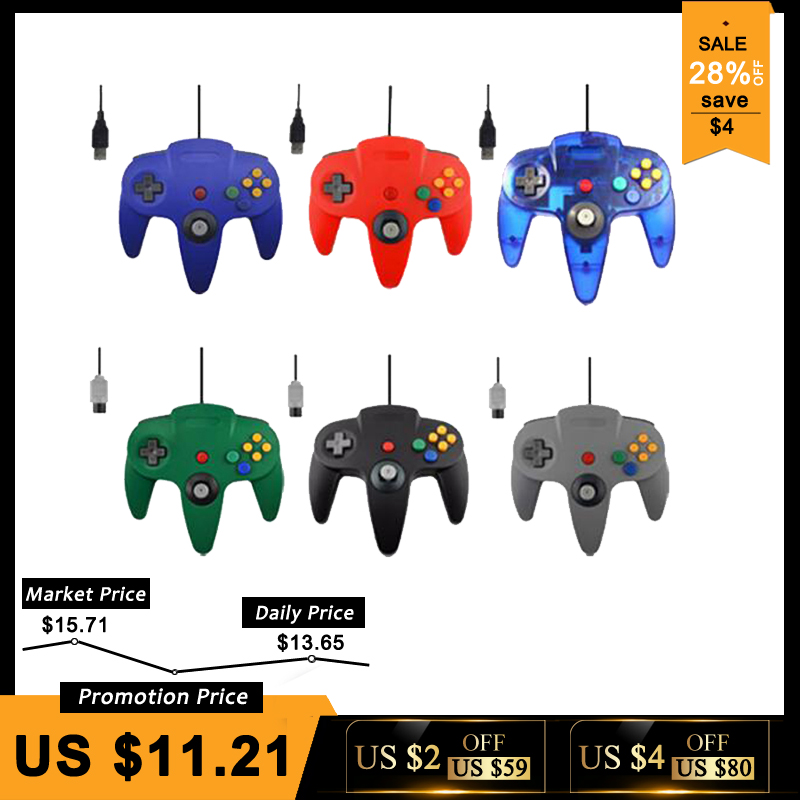 Wired USB/N64 Controller Für Nintend N64 Joystick Spiele Gamepad Joypad Für Gamecube Controle Für N64 PC Für Mac schwarz Gamepad
