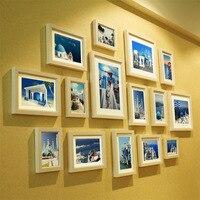 15pcs Set Wood Photo Frame Creative Wedding Photo Frame Home Decoration Picture Frame
