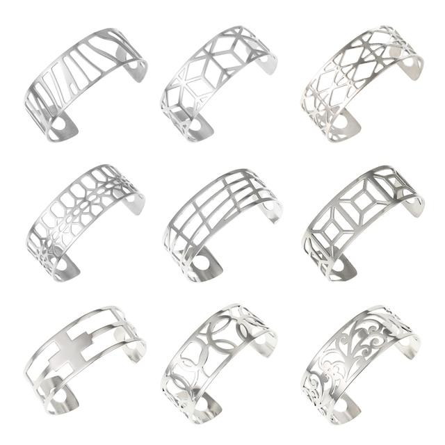 Legenstar Bangles For Women Hollow Stainless Steel Cuff Bracelets&Bangles Bijoux Manchette Femme Bracelet Argent Pulseiras