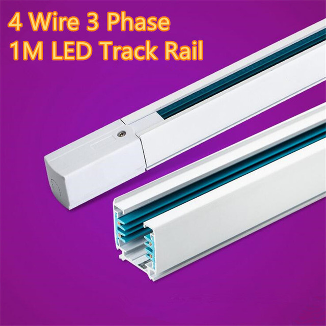 FÜHRTE Schiene 1 Mt 3 Phase Schaltung 4 Draht Aluminiumschiene licht ...